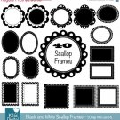40 Scop Digital Frames - Digital Clipart - Scrapbooking, card design,photography