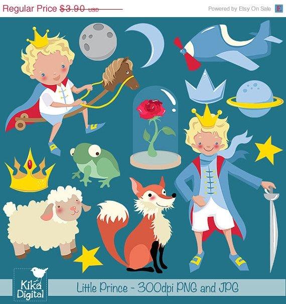 Little Prince Digital Clipart - Scrapbooking , card design, stickers
