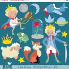 Little Prince Digital Clipart - Scrapbooking , card design, stickers