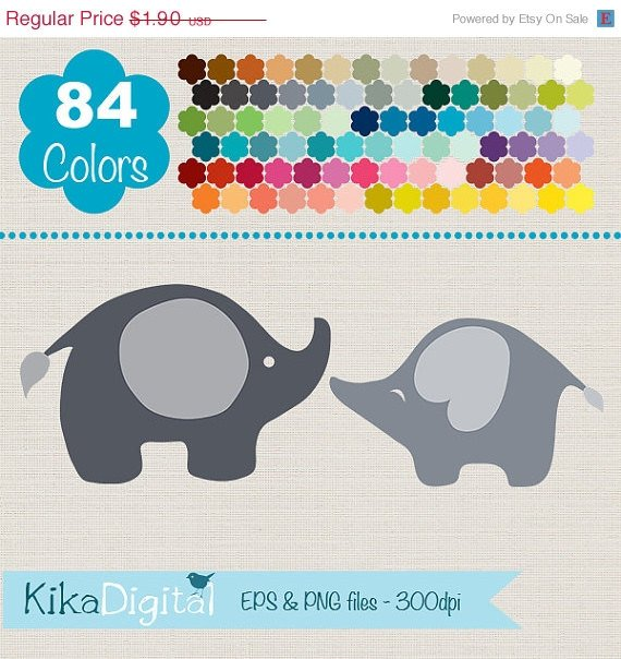 Elephants Clip ArtRainbow Elephants ClipartColorful Baby Elephants Vector GraphicsHuge Clipart