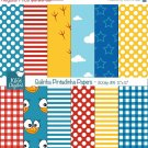 Lottie Dottie Chicken Digital Papers, Chicken Digital papers card design