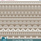 Lace Borders - Digital Clipart / Scrapbooking - card design, invitations