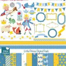Prince Digital Clipart , Paper Bundle - Scrapbook , card design, stickers