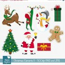 Christmas Elements set II- Digital Clipart / Scrapbooking- card design, stickers
