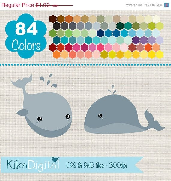 Whale Clip ArtRainbow Baby Whale ClipartColorful Whale Vector GraphicsHuge Clipart