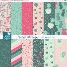 Spring Easter Digital Papers - Happy Easter Papers - Scrapbook, card design