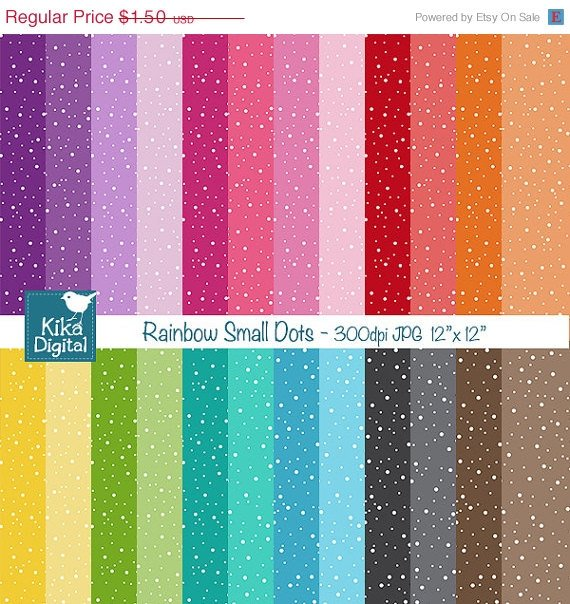 Colorful Sm Dots Digital Papers-Colorful papers-card design, backgroundO