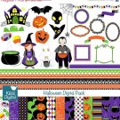 Hoween Digital Clipart , Paper Pack - Scrapbooking , card design, stickers