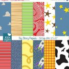 Toy Story Inspired Digital Papers, Toy Story Scrapbook Papers - card design