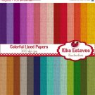 Lined Colorful Digital Papers - Scrapbooking Paper - card design, invitations