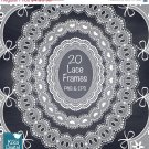 Wh Lace FramesDigital Lace Clip ArtWedding Lace BordersDigital FramesWh Lace Oval Frame