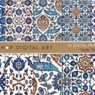 Digital Paper Pack 'Iznik Tiles - Set 01' , Print Patterns, Cards, Design