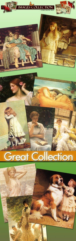 Victorian Art Painting 80 jpeg files printable vintage print