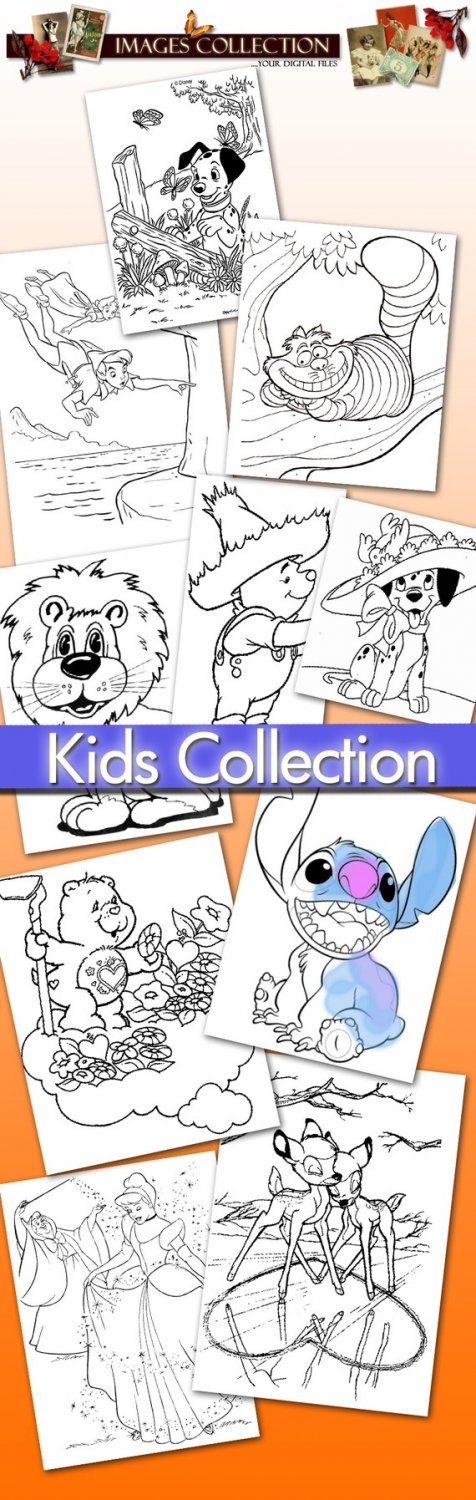 Gif files printable, 450 Kids Pictures For Colouring -Part.1- , cards, Painting