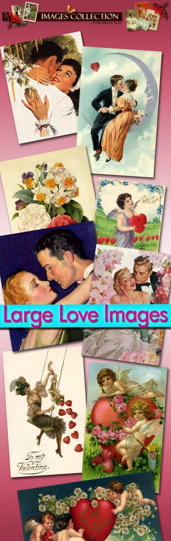Digital Img. Love ,  Romance 80 Jpeg files scrap
