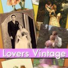 Digital collection Lovers vintage print