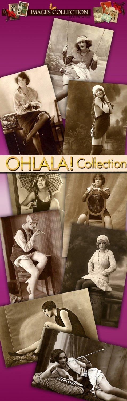 digital images collection, Ohlala vintage print