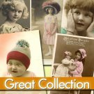 Digital printable Img. Victorian Children - 354 Jpeg files cards