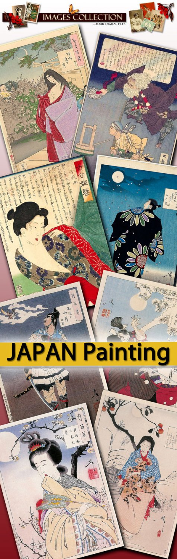 Yoshitoshi Tsukioka illustration - japan oriental east painting geisha samurai
