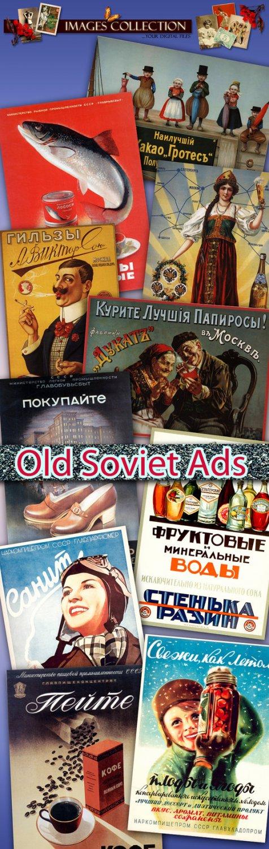 Digital Old Soviet Advertising collection vintage print