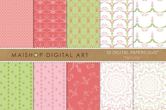 Digital Paper Nenufar