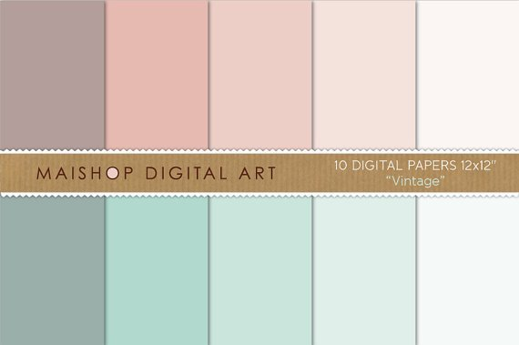 Solid Color Digital Paper - Vintage