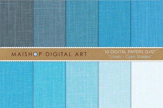 Digital Paper Linen-Cyan Shades-Baby BlueBlue-grayCelesteLinen Textured PapersingCraftsDesign