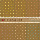 Digital Paper - Mini Hearts on Kraft - Love theme Digital Sheets - 12x12 inches