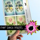 Watercolor Flowers print Journal Tags