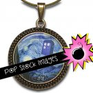 1-Inch Rounds DOCTOR WHO Starry Night Collage Sheet-For PendantsMagnets