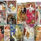 DVD ALPHONSE MUCHA Art Nouveau Art Deco High Res Poster Art Image Collection