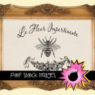 FRENCH BEE Digital Image Transfer-Digital Graphic Image for Transfers-French Boutique Transfer-