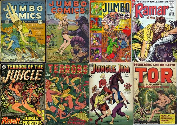 DVD Gold Age JUNGLE ADVENTURES Comics (Vol 3) Fiction House Jumbo Sheena St John