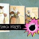 Historical Women's Fashion Plates - vintage print