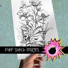 Peony Flowers Digital Image Transfer-Peonies print for TotesLinens Shirts print Peony