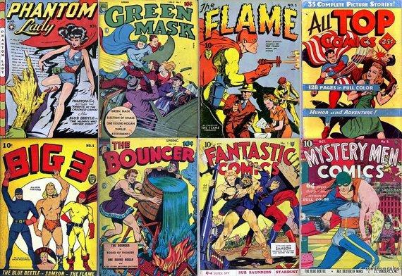 FOX FEATURE Comics DVD (Golden Age Vol 11) Mystery Men Big 3 Top Phantom Lady