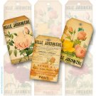 Botanical Gift Tags, Rose Collage Sheet Tags, Aged Paper ,  Flower Labels