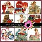 Vintage Diecut Valentine Img.-100 Fancy Diecut Valentines-