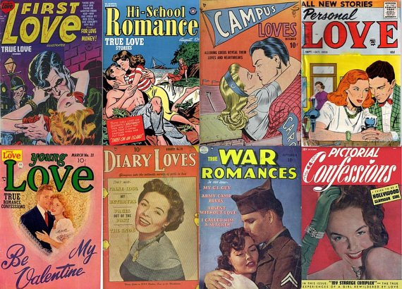 GIRLS LOVE ROMANCE & Intimacy Comics Golden Age (vol 1) Teenage Stories Cbr cbz