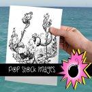 Mermaid Tea Party Digital Image Transfer-Mermaids Having Tea-print for TotesLinensGreeting Cards
