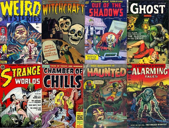 DVD Golden Age Comics SUSPENSE HORROR Tales Thriller Chamber Chills Mutiny Avon Fawcett Better