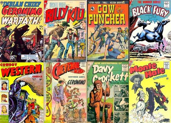 DVD Golden Age CHARLTON COWBOY Western Comics  Cow Puncher Geronimo Rangers