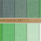 Digital Paper Linen-Grn Shades-Linen Texture Backgrounds for KeepsakeDIY CraftsScrapbook