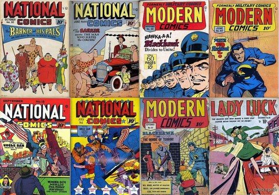 Modern NATIONAL QUALITY Comics Magazines DVD  Uncle Sam Eisner Jack Cole