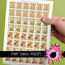 1 Inch Squares Paris Floral Collage Sheet-print for PendantsMagnets