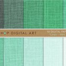 Digital Paper Linen-Mint Shades-GrnEmerald-Decoupage PaperDigital SheetsWrapping Paper