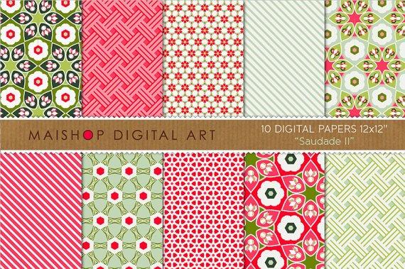 Digital Paper Saudade II