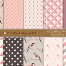 Digital Paper Geometric Birds II