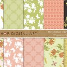 Digital Paper Passion Flower