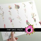 Watercolor Floral Image Collection - INDIVIDUAL vintage print